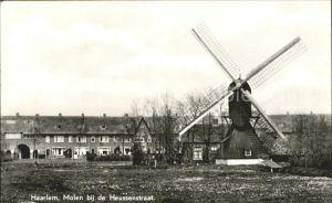 Haarlem Molen bij de Heussenstraat Windmuehle Kat. Haarlem