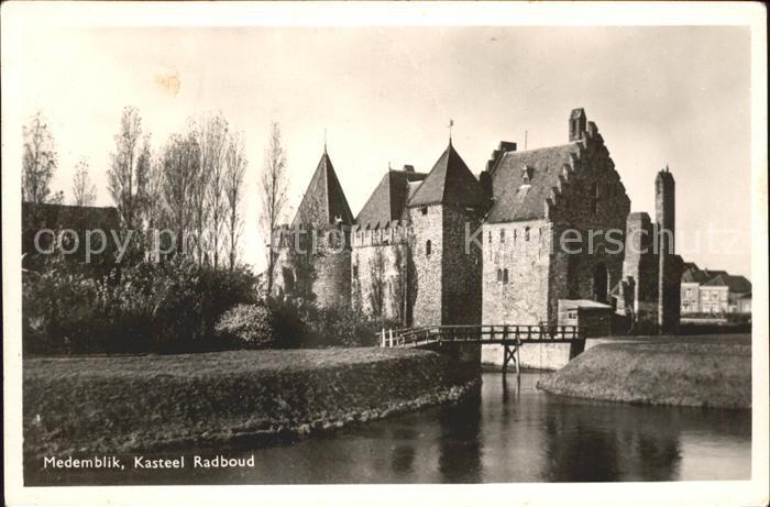 Medemblik Kasteel Radboud Burg Kat. Medemblik