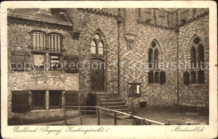 Medemblik Kasteel Radboud Ingang Kantongerecht Burg Kat. Medemblik