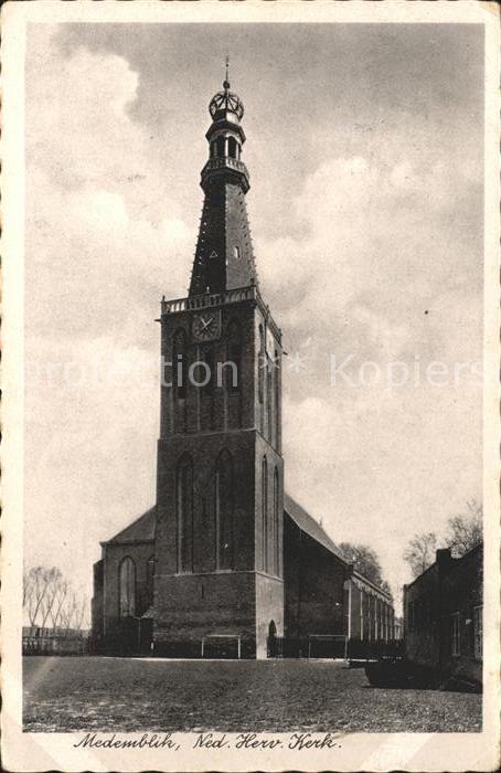 Medemblik Ned Herv Kerk Kirche Kat. Medemblik