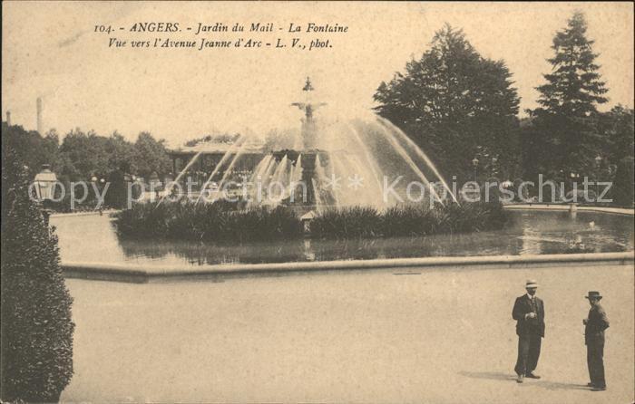 Angers Jardin du Mail La Fontaine Kat. Angers Nr. ka44059 - oldthing ...