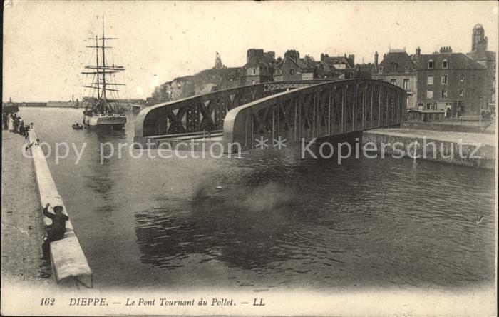 Dieppe Seine Maritime Pont Tournant du Pollet Bateau Drehbruecke Kat. Dieppe
