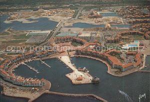 Le Barcares Le Port vue aerienne Kat. Le Barcares