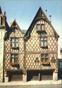 Tours Indre et Loire Vieille maison Place Foire le Roi Kat. Tours