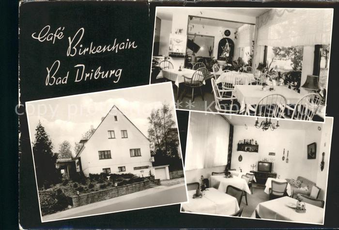 Bad Driburg Cafe Restaurant Pension Birkenhain Kat. Bad Driburg