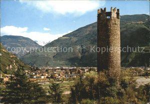 Bolzano Torre di Druso antico Castello Gscheibter Turm einstige Burg Treuenstein Kat. Bolzano
