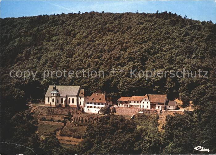 Pfaffenheim Haut Rhin Alsace Pelerinage Notre Dame de Schauenberg vue aerienne Wallfahrtsort Kat. Pfaffenheim