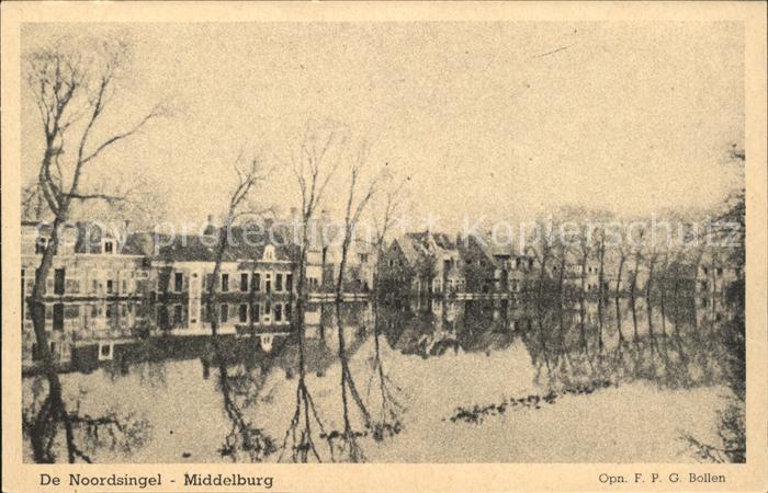 Middelburg Zeeland De Noordsingel Hochwasser Kat. Middelburg