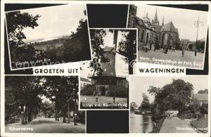 Wageningen Markt Gemeentehuis Kerk Noorderplantsoen Rijksstraatweg
