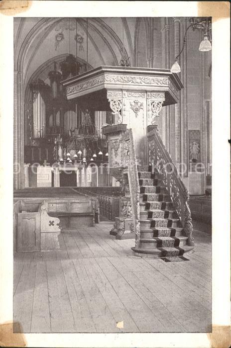 Zutphen Interieur Orgel Preekstoel St. Walburgskerk Kat. Zutphen