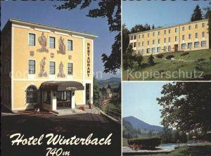 St Anton Jessnitz Hotel Restaurant Winterbach Schwimmbad Kat. St. Anton an der Jessnitz