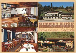 Steinbach Attersee Gasthof Kienklause Gastraeume Terrasse Kat. Steinbach am Attersee
