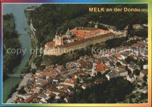 Melk Donau Stift Melk Fliegeraufnahme Kat. Melk Wachau