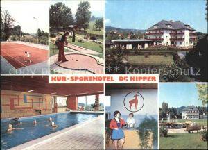 Bad Gams Kur und Sporthotel Dr Kipper Tennis Hallenbad Minigolf Kat. Bad Gams