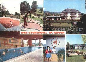 Bad Gams Kur und Sporthotel Dr Kipper Tennis Minigolf Hallenbad Kat. Bad Gams