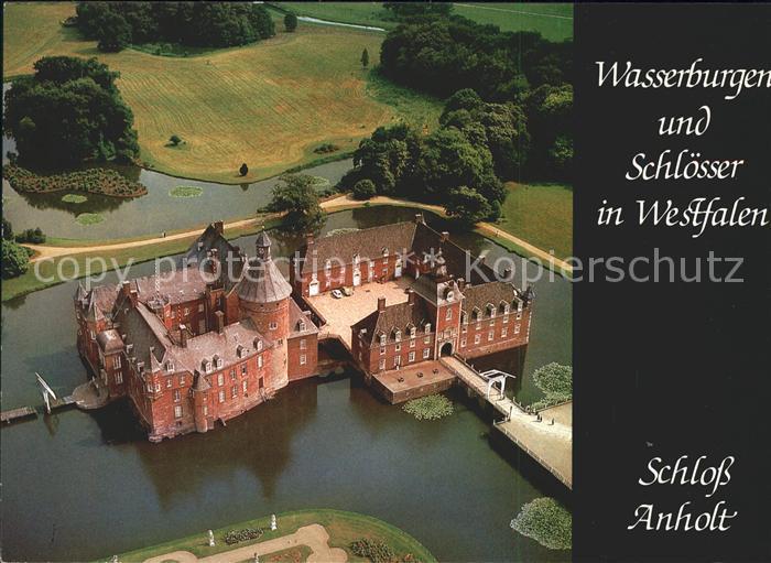 Isselburg Schloss Anholt Fliegeraufnahme Kat. Isselburg