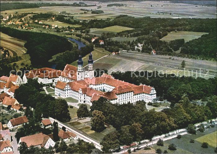 ka56596 Obermarchtal Klosterkirche mit Blick auf Rechtenstein Fliegeraufnahme Ka