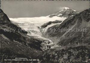 Pontresina Berninabahn Alp Gruem Paluegletscher und Piz Palue Kat. Pontresina