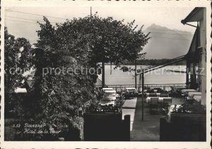 Bouveret VS Hotel de la Tour Terrasse Lac Leman Kat. Bouveret