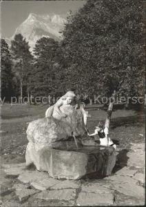 Maienfeld Heidi Brunnen Kat. Maienfeld