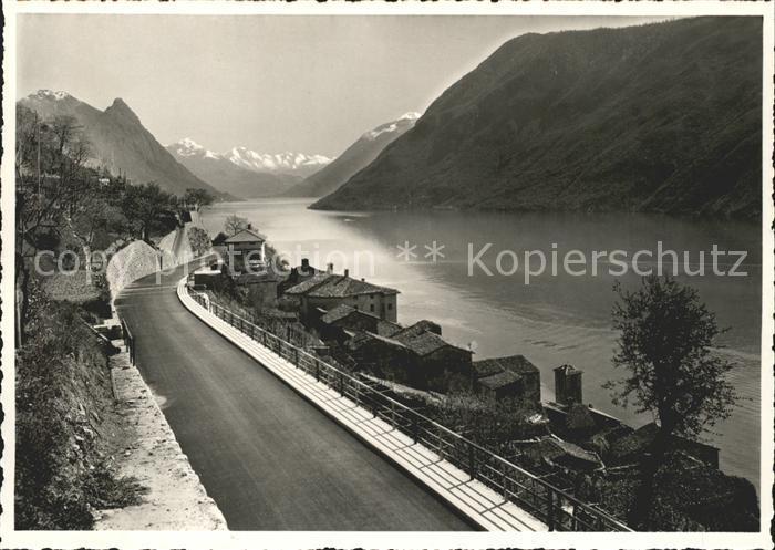 Gandria Lago di Lugano Neue Strasse Kat. Gandria
