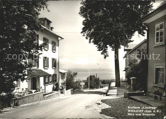 Wienacht Tobel Kurhaus Landegg Blick zum Bodensee Kat. Wienacht Tobel