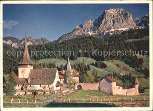 Rougemont Pays d Enhaut Schloss Schweizer Wandkalender 1954 Kat. Rougemont
