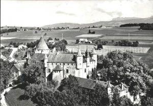 Oron le Chatel Panorama et le Chateau vue aerienne Kat. Oron le Chatel