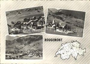 Rougemont Pays d Enhaut Vues aeriennes Kat. Rougemont