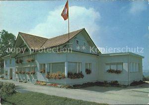 Degersheim SG Gasthaus Wolfensberg Schweizer Flagge Kat. Degersheim