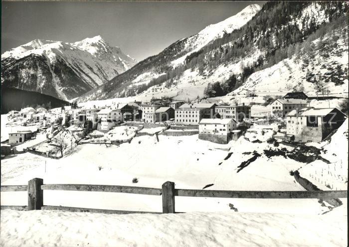 Lavin Schneelandschaft Dorf Kat. Lavin