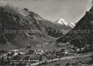 Samnaun Dorf Samnaun mit Muttler Kat. Samnaun Dorf