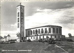 Wollishofen Protestantische Kirche Kat. Wollishofen