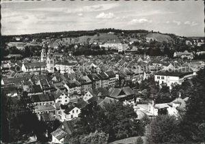Winterthur Stadtansicht vom Heiligberg gesehen Kirche Kat. Winterthur