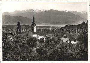 Aeugst Albis Panorama mit See Alpen Kat. Aeugst Albis