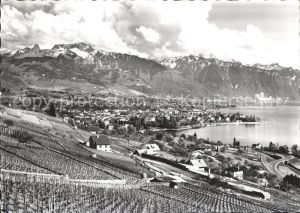 Vevey VD et les Alpes vaudoises Kat. Vevey