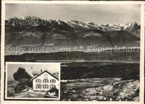 Wald ZH Berggasthaus zum Lauf mit Glarneralpen Kat. Wald ZH
