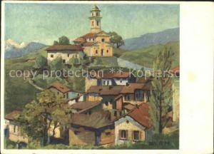 Breganzona Lugano Kuenstlerkarte Henri Burn Kat. Breganzona