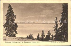 Weissenstein SO beim Kurhaus Hotel Blick auf das Nebelmeer Alpenpanorama Kat. Weissenstein Solothurn