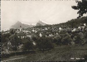 Jenins Ortsansicht mit Kirche Alpenblick Kat. Jenins