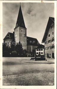 Elgg Kirche Brunnen Kat. Elgg