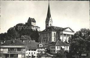 Uster ZH Kirche und Schloss / Uster /Bz. Uster