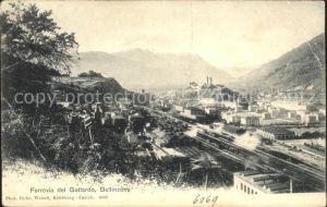 Bellinzona Ferrovia del Gottardo Bahnhof Kat. Bellinzona