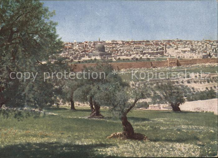 Jerusalem Yerushalayim Blick vom Oelberg Kat. Israel