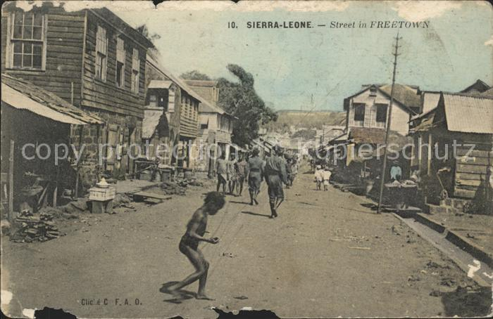 Freetown Western Area Street Kat. Freetown