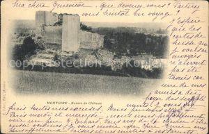 Montoire sur le Loir Ruines du Chateau Kat. Montoire sur le Loir