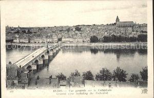 Blois Loir et Cher Vue generale sur la Cathedrale Pont Kat. Blois