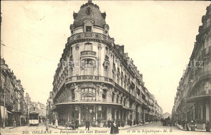 Orleans Loiret Rue Baunier et Rue de la Republique / Orleans /Arrond. d Orleans