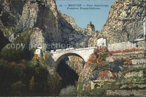Menton Alpes Maritimes Pont Saint Louis Frontiere Franco Italienne Kat. Menton