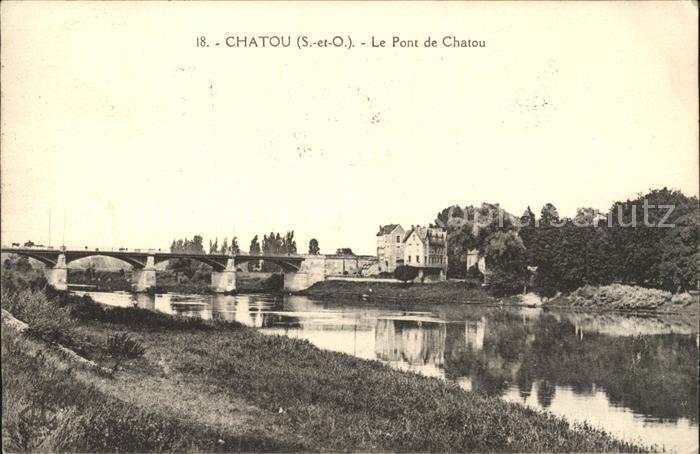 Chatou Pont Bords de la riviere Kat. Chatou